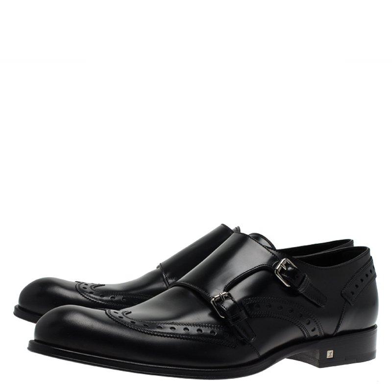 Louis Vuitton Black Brogue Leather