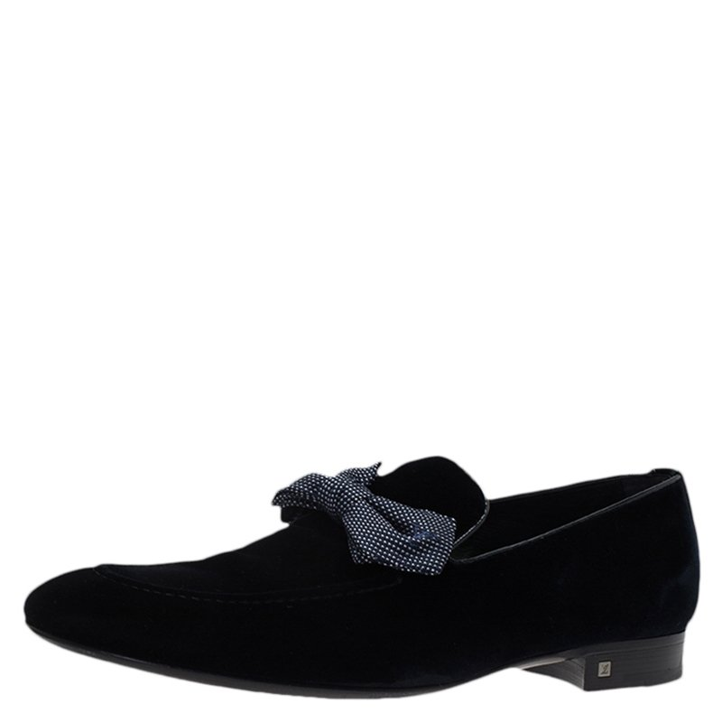 6e51e660eaa9 ... Louis Vuitton Blue Velvet Tuxedo Bow Loafers Size 43. nextprev. prevnext