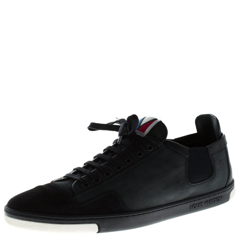 Louis Vuitton Navy Blue Nubuck And Suede  V Gaston Sneakers Size 42.5