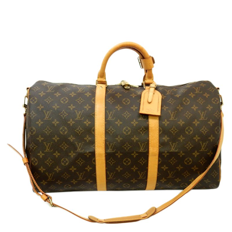 b5b27def3c6 Louis Vuitton Monogram Canvas Keepall Bandouliere 50