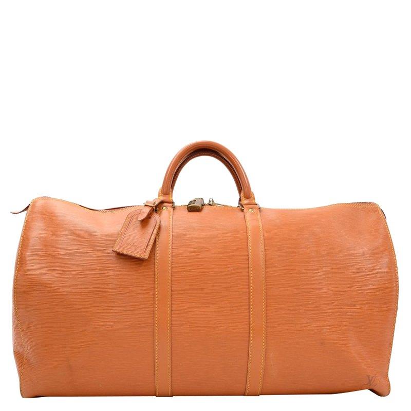 d6a07251025 Louis Vuitton Cipango Gold Epi Leather Keepall 55