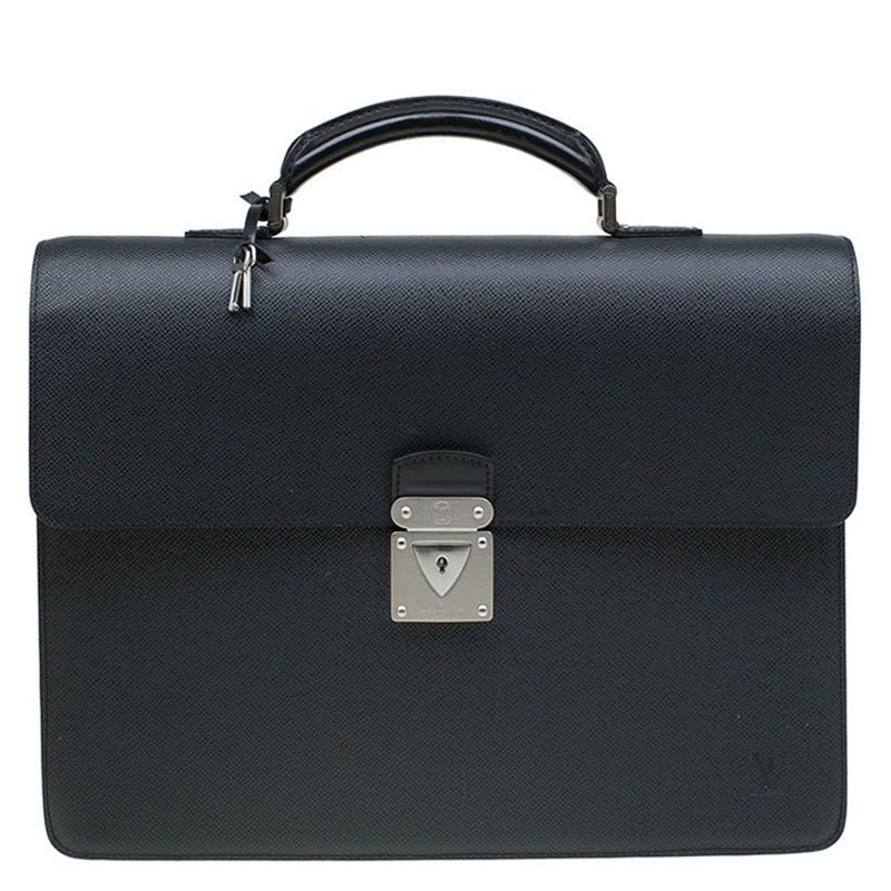 a3a906845ad2 ... Louis Vuitton Black Taiga Leather Robusto 1 Compartment Briefcase.  nextprev. prevnext