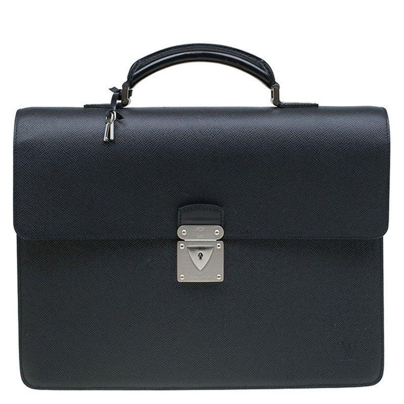 770d856cffd5 ... Louis Vuitton Black Taiga Leather Robusto 1 Compartment Briefcase.  nextprev. prevnext