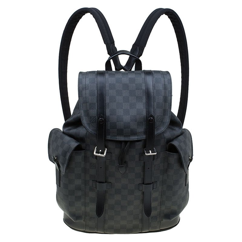 4b636cbfe1b2 Buy Louis Vuitton Damier Graphite Canvas Christopher PM Backpack ...