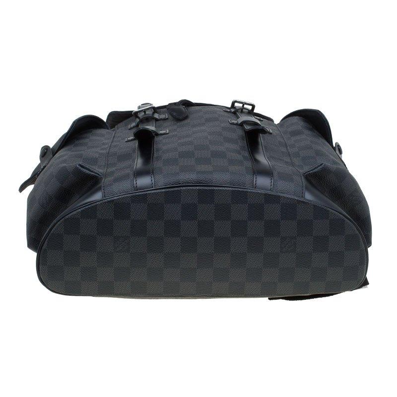 fa1212e9 Louis Vuitton Damier Graphite Canvas Christopher PM Backpack