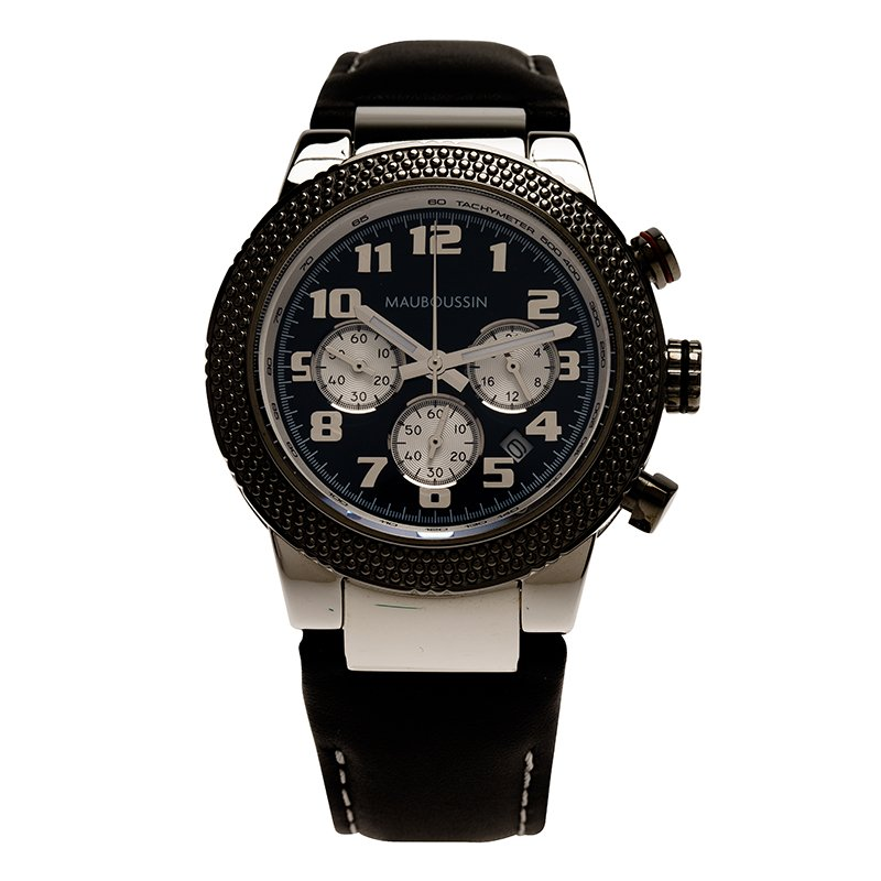 Mauboussin Black Stainless Steel First Day Men's Wristwatch 42MM