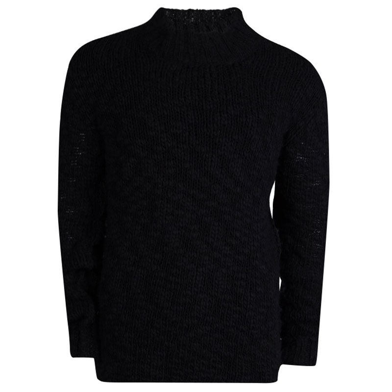 McQ by Alexander McQueen Oversized Slub Knit Crewneck Sweater L