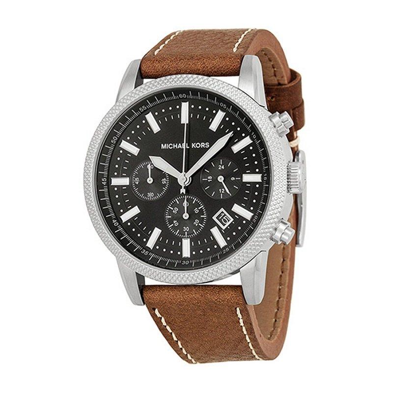 ساعة يد رجالي مايكل كورس سكوت MK8309 ستانلس ستيل سوداء 43 مم
