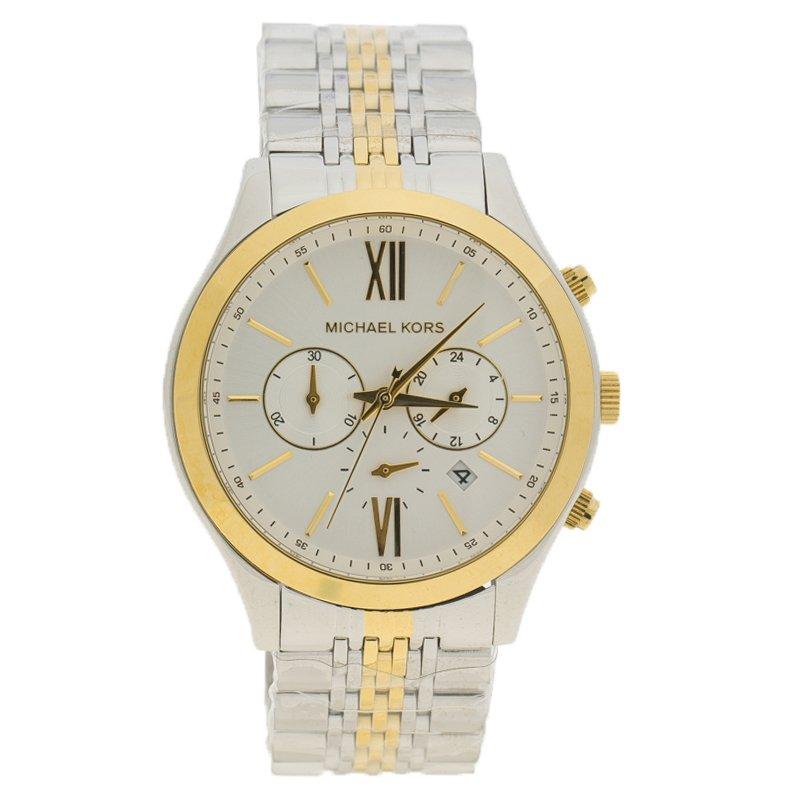 Michael Kors White Stainless Steel MK8306 Men's Wristwatch 45MM