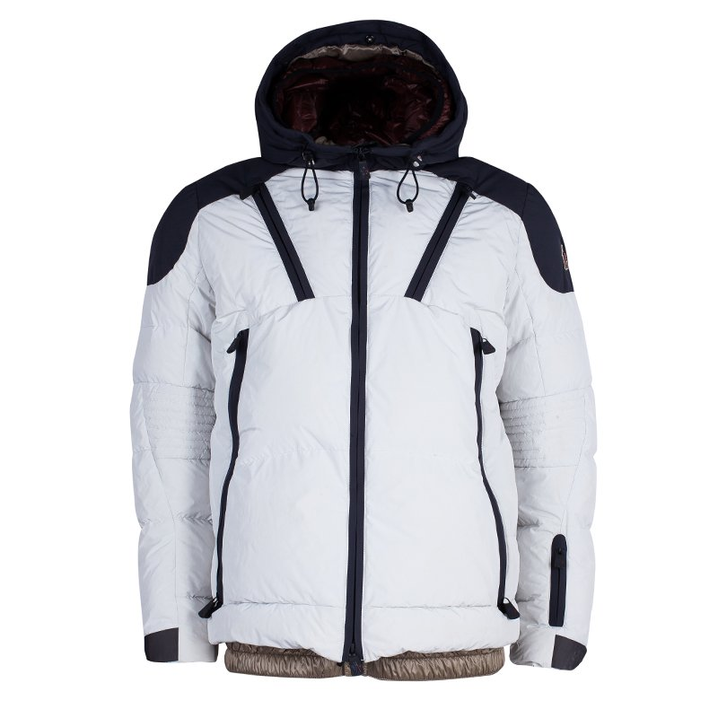 47ededc8f Buy Moncler Grenoble Men's Off-white and Navy Skiing Jacket L 45425 ...