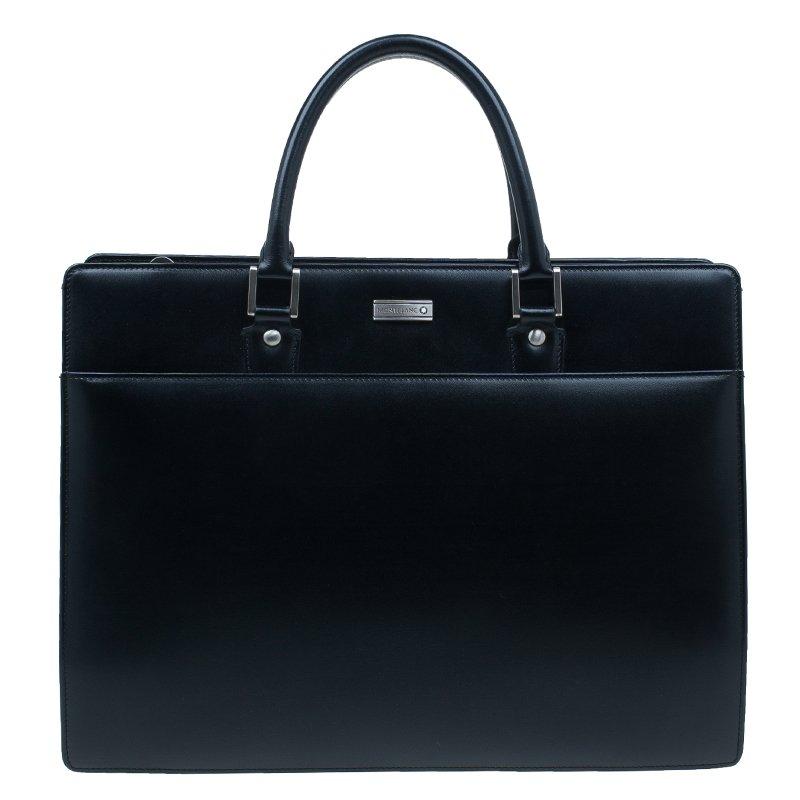 Montblanc Black Leather Meisterstuck Document Case