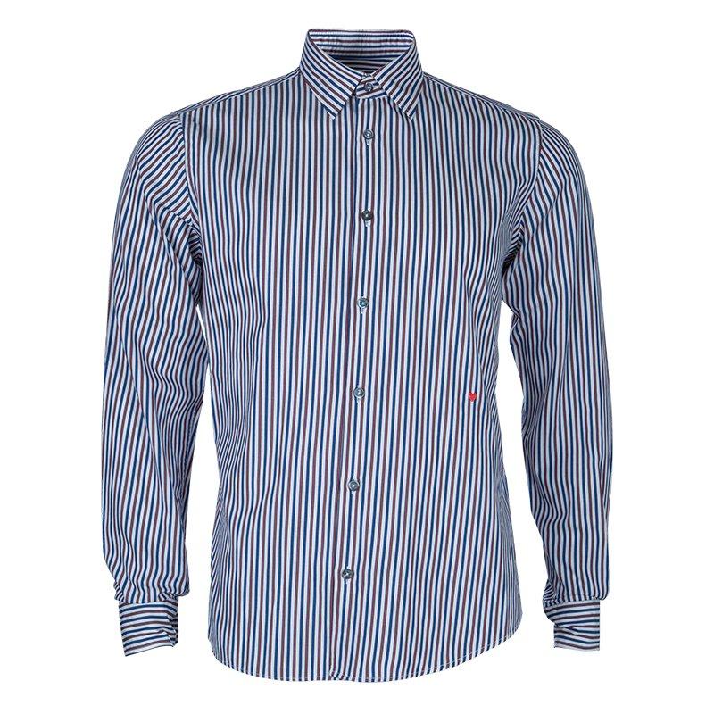 Moschino Men's Multicolor Striped Shirt M