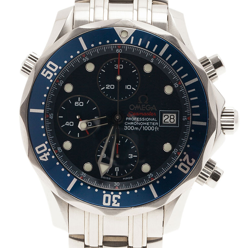5d28713a841 ... Omega Blue Stainless Steel Seamaster professional chronometer 300m  Men s Wristwatch 41MM. nextprev. prevnext