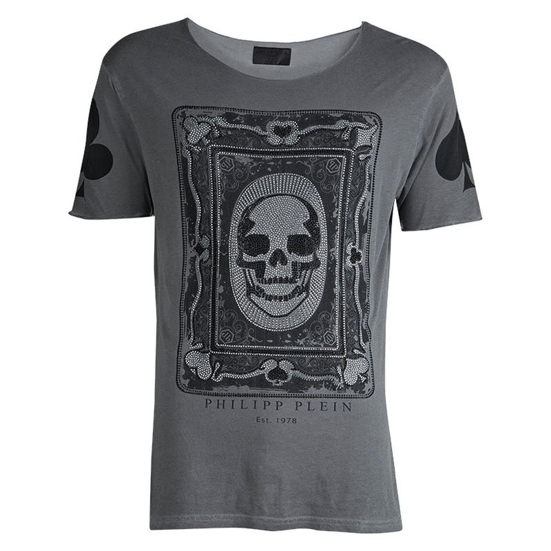 d66b9bc423 ... Philipp Plein Grey Skull Print Embellished T-Shirt L. nextprev. prevnext