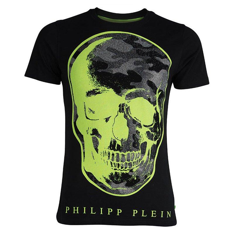 6ae845a2de ... Philipp Plein Black Contrast Skull Print Embellished Crew Neck T-Shirt  L. nextprev. prevnext