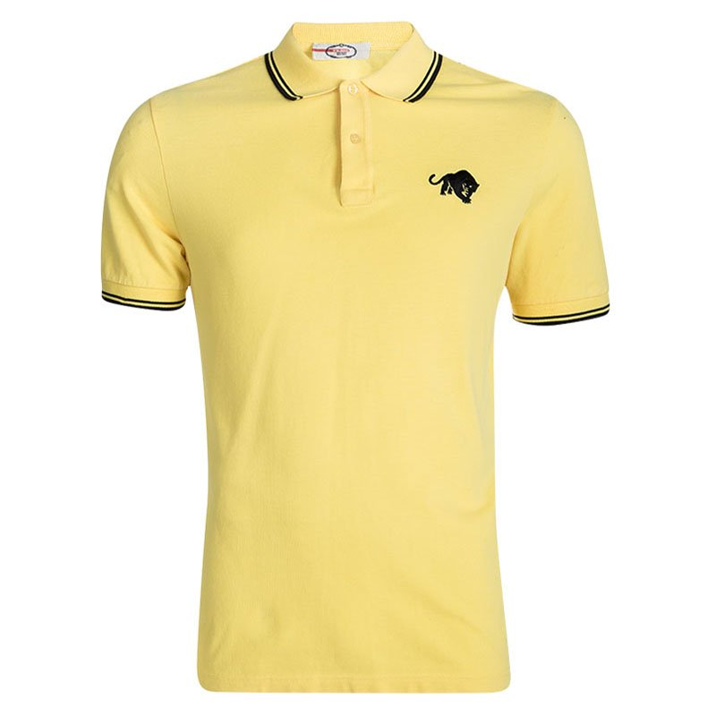 ba0ebf97 ... Prada Sport Yellow Panther Embroidered Polo T-Shirt XL. nextprev.  prevnext