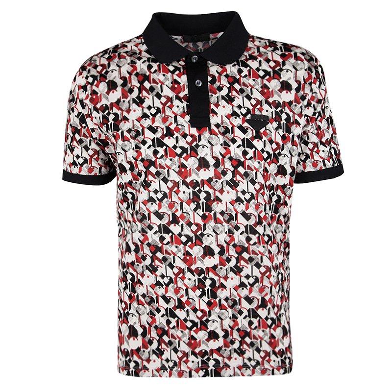 a06781fc9 ... Prada Multicolor Printed Honeycomb Knit Polo T-Shirt XL. nextprev.  prevnext