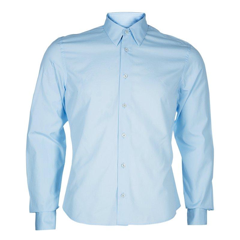 cbdb825c3e Prada Men's Blue Cotton Shirt M