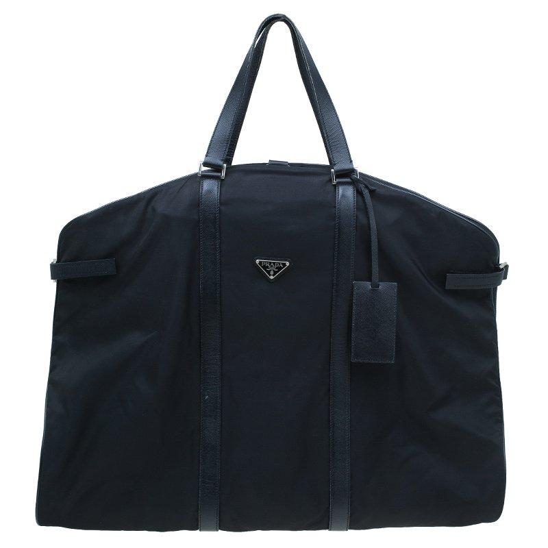 3fe9c53b4a08 Prada Black Nylon Garment Carrier Bag Travel Suit