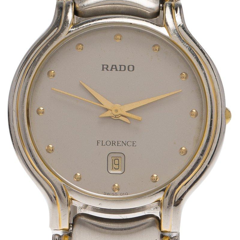 Rado Grey Stainless Steel Florence Men's Wristwatch 32MM