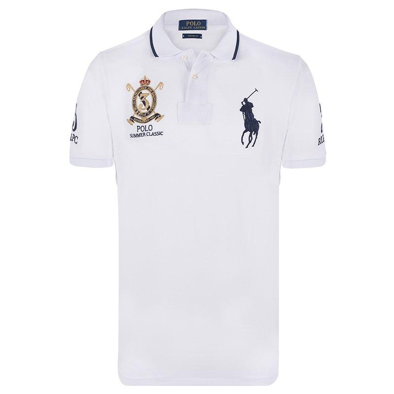 ac4a2e6f6 ... Polo Ralph Lauren White Navy Blue Logo Polo Shirt XXL. nextprev.  prevnext