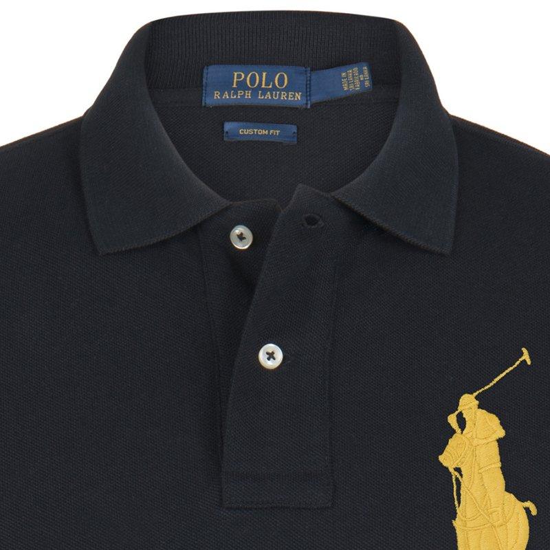 the best attitude 58dad 8e077 Polo Ralph Lauren Black/Yellow Logo Polo Shirt S