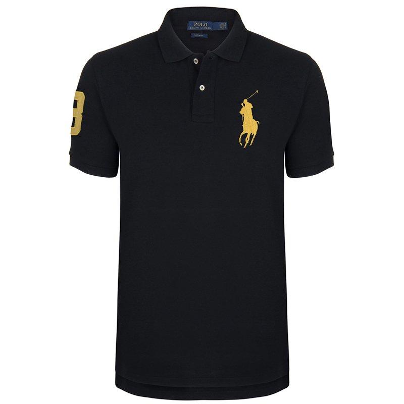 Polo Ralph Lauren Black/Yellow Logo Polo Shirt XL