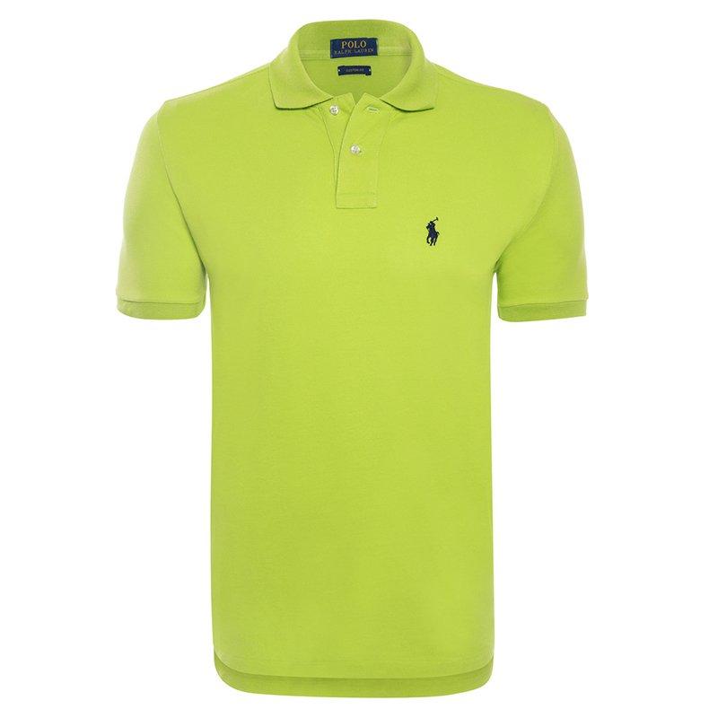 Polo Ralph Lauren Lime GreenBlack Logo Polo Shirt S