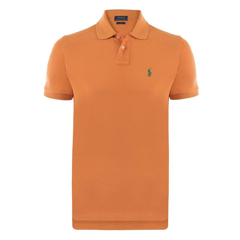 Polo Ralph Lauren Orange/Green Logo Polo Shirt XL