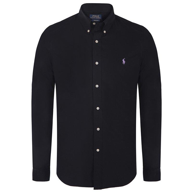 Polo Ralph Lauren Black/Lilac Logo Long Sleeve Shirt M