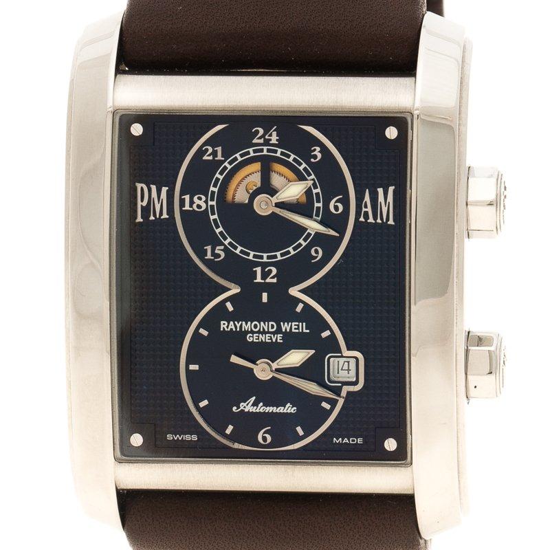 Buy Raymond Weil Black Don Giovanni Leather Men S Wristwatch 35mm