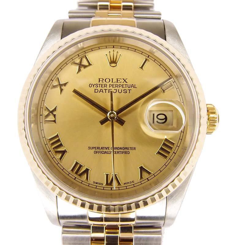 4e72ec6ae17df إشتري ساعة يد رجالي رولكس ديت جست ستانلس ستيل وذهب أصفر عيار 18 ذهبي ...