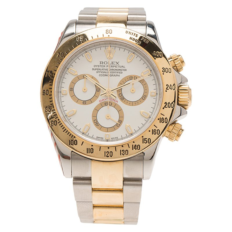 Buy Rolex White Stainless Steel And 18k Yellow Gold Cosmograph