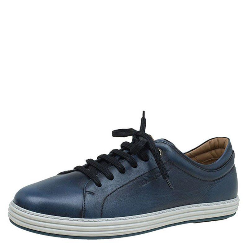 Salvatore Ferragamo Blue Leather