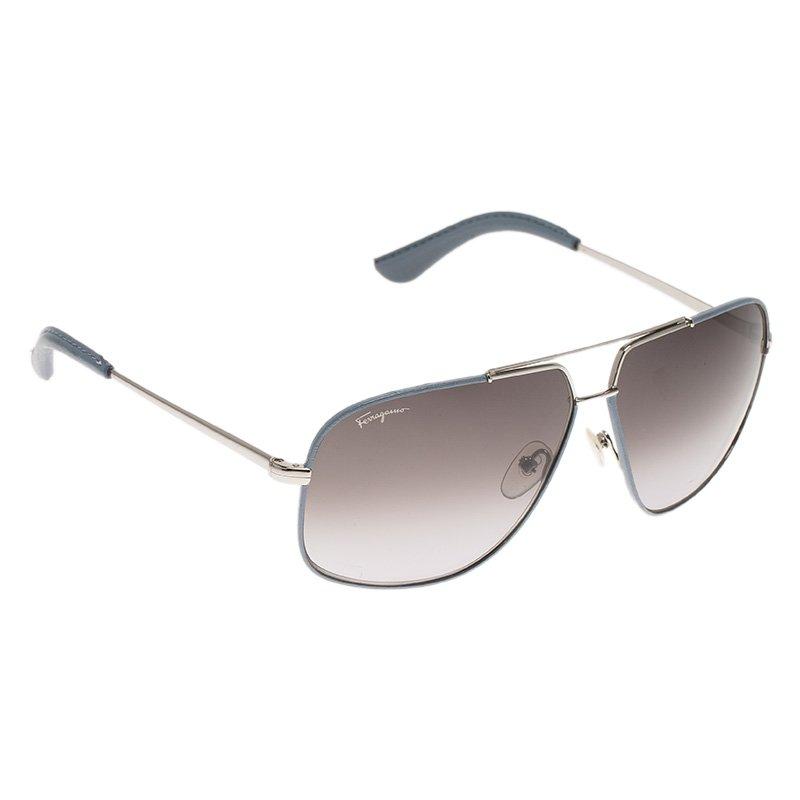 bd944e87a3 ... Salvatore Ferragamo Blue SF105SL Aviator Sunglasses. nextprev. prevnext