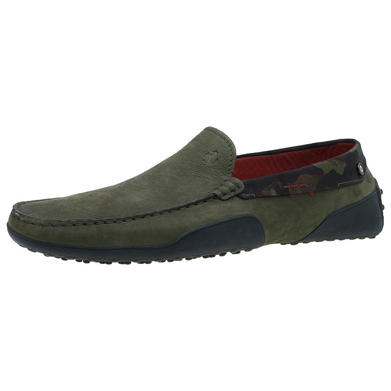 af46f91c194 ... Tod s for Ferrari Military Green Camouflage Suede Loafers Size 44.5.  nextprev. prevnext