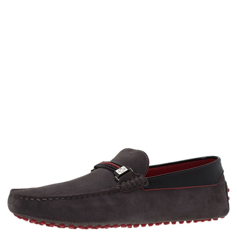 53be99af2ea Buy Tod s for Ferrari Grey Suede Loafers Size 41.5 79973 at best ...