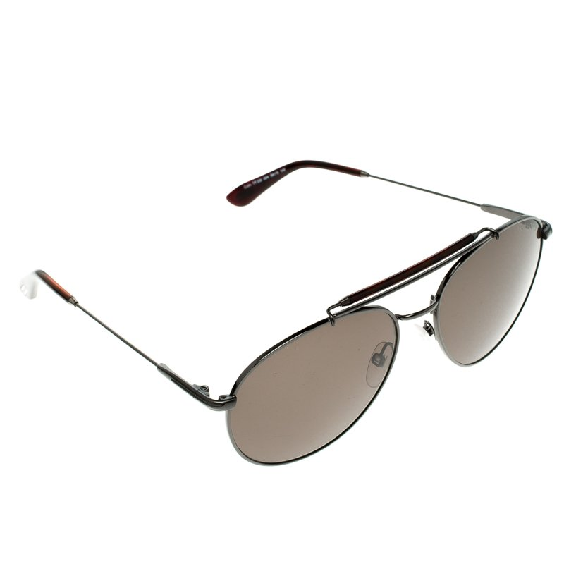 77df462355 Buy Tom Ford Brown TF 338 Colin Aviator Sunglasses 101589 at best ...