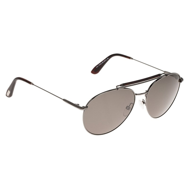 e775aac9aed29 ... Tom Ford Brown and Black Colin Aviator Sunglasses. nextprev. prevnext