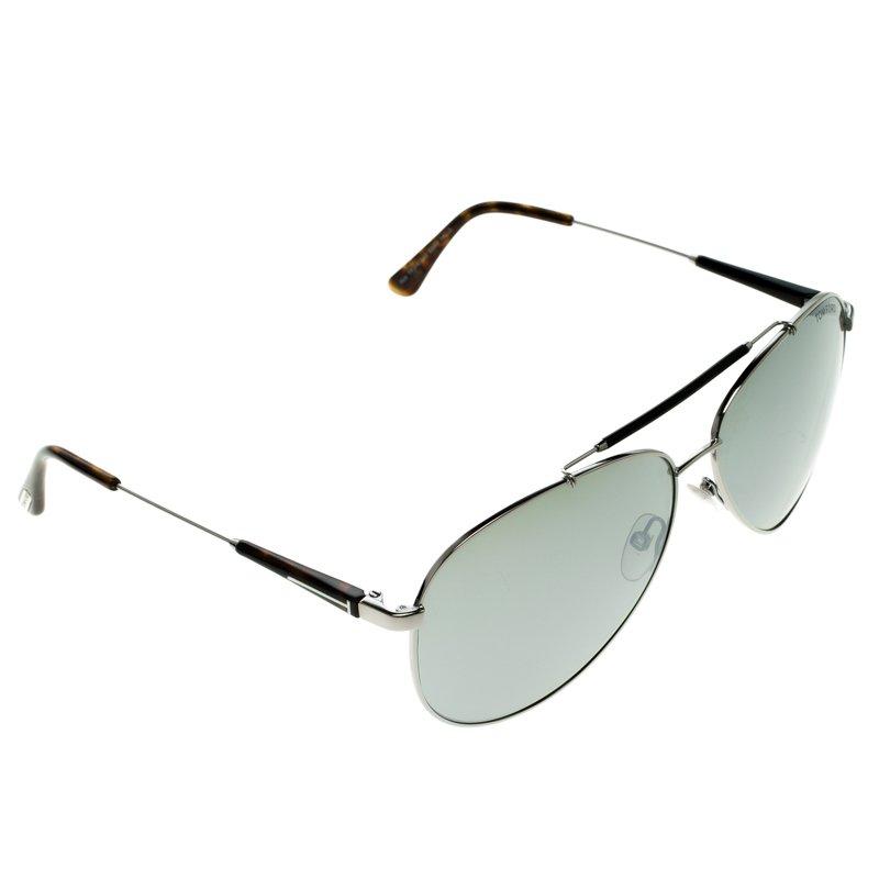 b1aa3e4ab0c6b Buy Tom Ford Silver TF 378 Rick Aviator Sunglasses 103127 at best ...