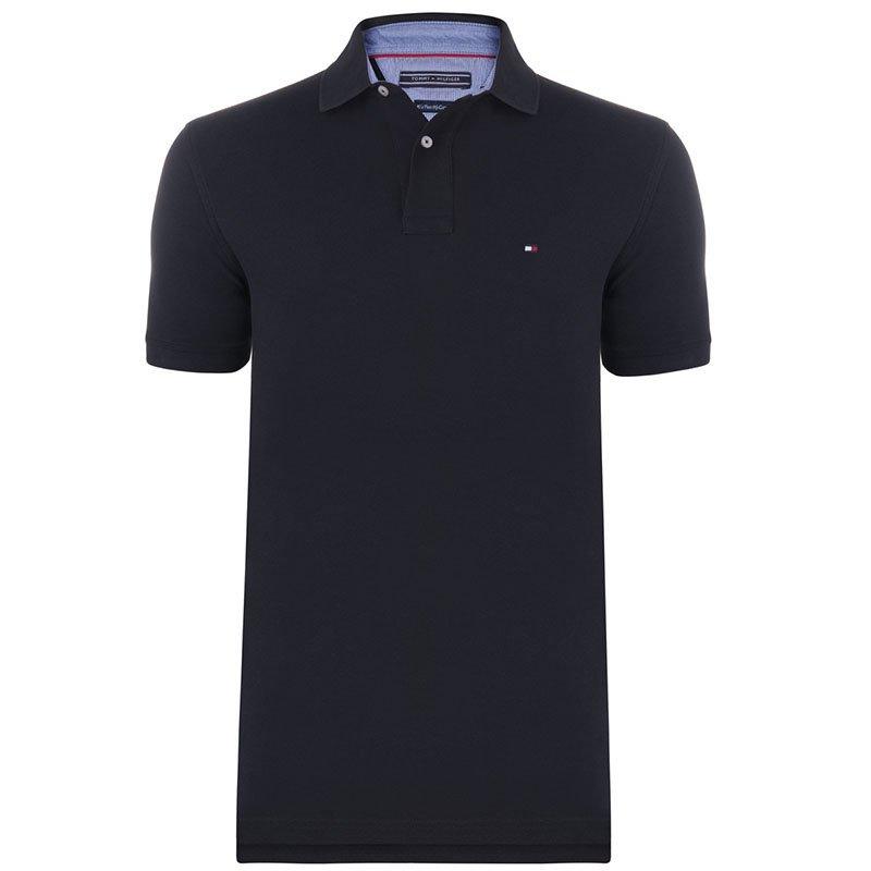 Tommy Hilfiger Black Logo Polo Shirt M