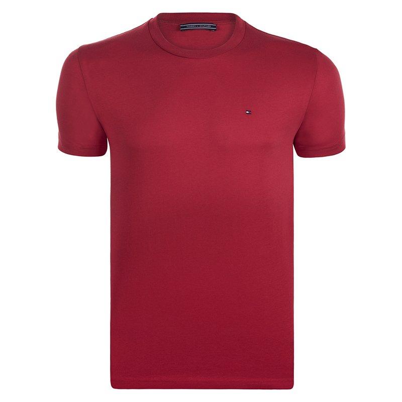 Tommy Hilfiger Red Logo Crew Neck Tshirt M