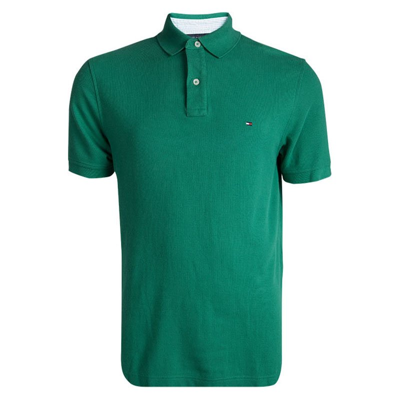 Tommy Hilfiger Green Short Sleeve Polo T-Shirt M