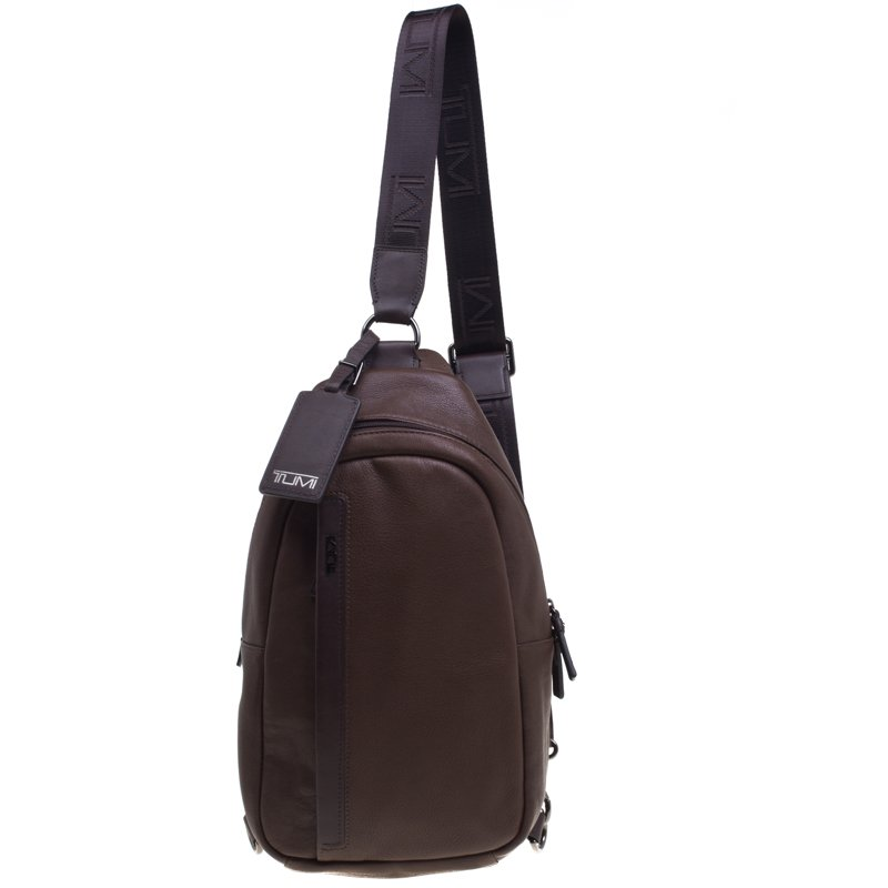 87743ca895b620 Buy Tumi Brown Leather Murano Sling Backpack 92419 at best price