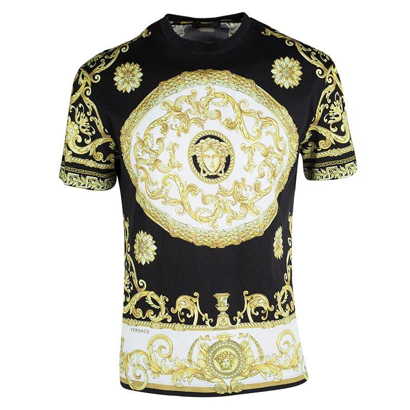 ee2136c9 Buy Versace Black Medusa Head Print T-Shirt M 106334 at best price | TLC