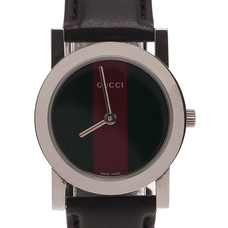 21e633ba64e Buy Gucci Logo Stainless Steel 5200 L Women s Wristwatch 27MM 1717 ...