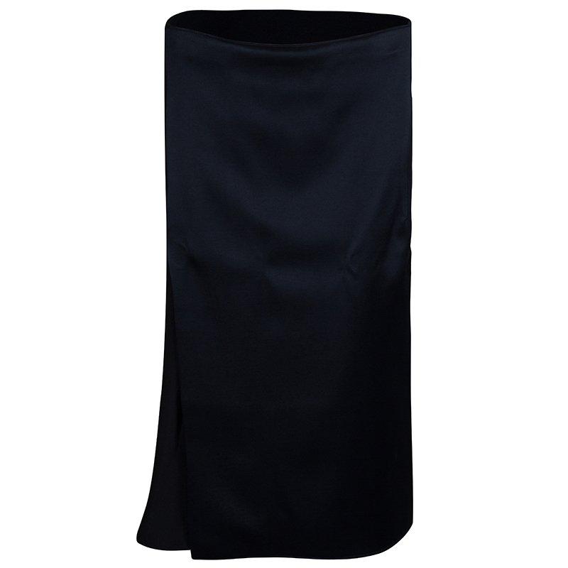 3.1 Phillip Lim Black and Navy Silk Skirt M
