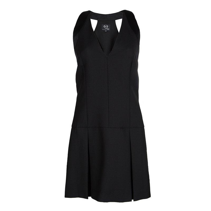Alexander McQueen Black Wool Tux Line Dress S