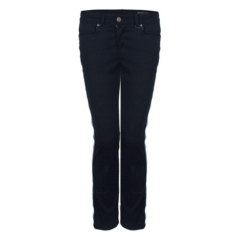 Alexander McQueen Black Side Zip Detail Jeans S