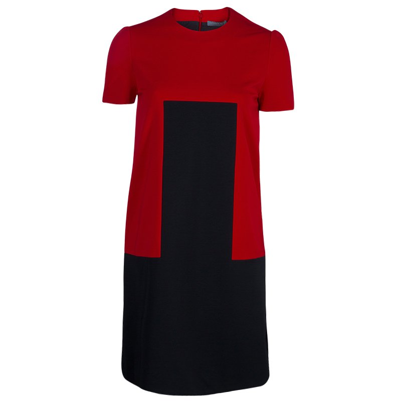 Alexander McQueen Red and Black Shift Dress S